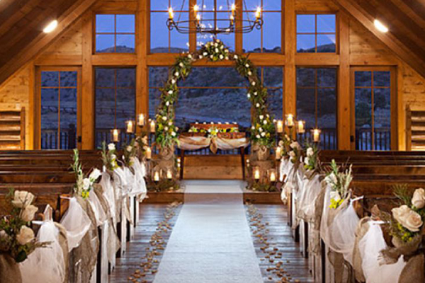 Image Depicting A Christian Wedding Venue - Holy Matrimony In Church.